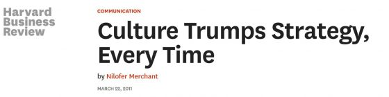 culture trumps strategy harvard business review