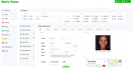 Contacts LoTops CRM