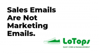 Sales Emails Are Not Marketing Emails