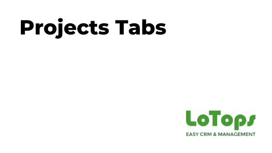 Projects Tabs LoTops CRM